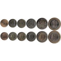 Tuerkei 1, 5, 10, 25, 50 Kurus und 1 Lira 2009