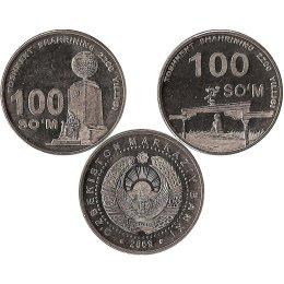Usbekistan 2 x 100 Som 2009