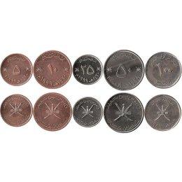 Oman 5, 10, 25, 50, 100 Baisa