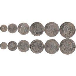 Mexiko 10, 20, 50 Centavos, 1, 5, 10 Pesos