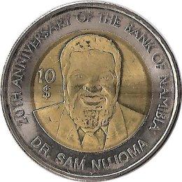 """Namibia 10$ 2010 """"20. Jubiläum der Zentralbank"""""""