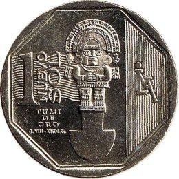 """Peru 1 Nuevo Sol 2010 """"Tumi de Oro"""""""