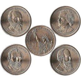 "USA 4 x Präsidenten Dollar 2011 ""P"""