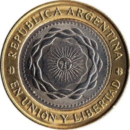 "Argentinien 2 Pesos 2010 ""Bicentenary of the May Revolution"""