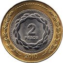 "Argentinien 2 Pesos 2010 ""Bicentenary of the May..."