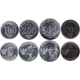 Indonesien 100, 200, 500, 1000 Rupiah 2016
