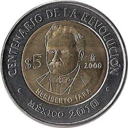 "Mexiko 5 Pesos 2008 ""Heriberto Jara"""