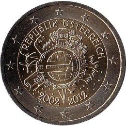"""Oestereich 2 Euro 2012 """"10. Jahrestag der Einführung des Euro"""""""