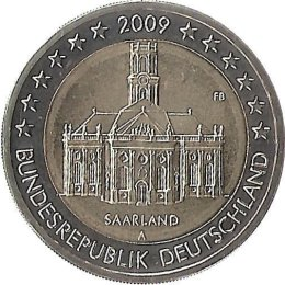 """Deutschland 2 Euro 2009 """"Saarland""""  """"A"""""""