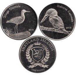 "Shetland Islands 2 x 1 Pound 2015 ""Vogel"""