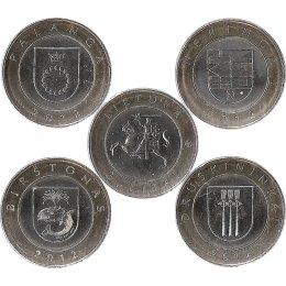 "Litauen 4 x 2 Litas 2012 ""Kurorte Litauens"""