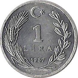 Türkei 1 Lira 1987