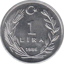 Türkei 1 Lira 1986