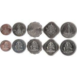 Bahamas 1, 5, 10, 15, 25 Cents 2005-2009