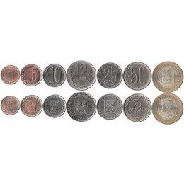 Venezuela 1, 5, 10, 12½, 25, 50 Cent, 1 Bolivares 2007-2010