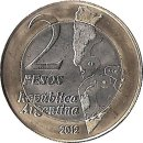 "Argentinien 2 Pesos 2012 ""30th Anniversary of the Malvinas War"""