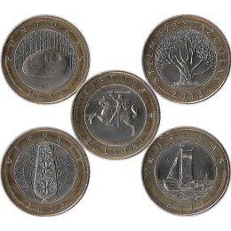 """Litauen 4 x 2 Litas 2013 """"Kulturerbe Litauens"""""""