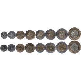 Mexiko 5, 10, 20, 50 Centavos, 1, 2, 5, 10 Pesos