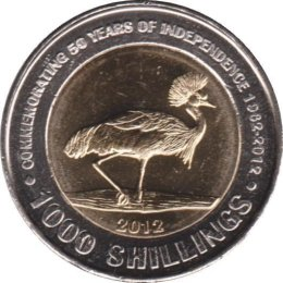 Uganda 1000 Shillings 2012 50 years Independence