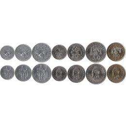 Neukaledonien 1, 2, 5, 10, 20, 50, 100 Francs 2008-2012