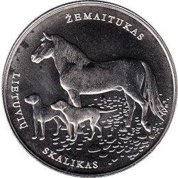 "Litauen 1,50 Euro 2017 ""Lithuanian hound and Žemaitukas horse"""