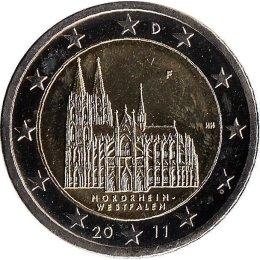 """Deutschland 2 Euro 2011 """"Nordrhein-Westfalen"""" """"F"""""""
