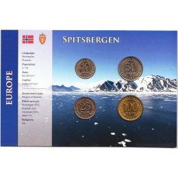 Spitzbergen 10, 25, 50, 100 Rubel 1993 Blister