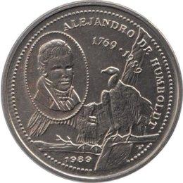 """Kuba 25 Centavos 1989 """"220 Geburtstag von Alexander von Humboldt"""""""