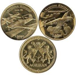 """Agrihan 2 x 5 Dollars 2017 """"Flugzeuge"""""""