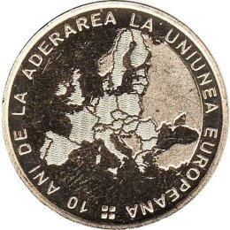 "Rumaenien 50 Bani 2017 ""10 years since Romanias accession to the European Union"""