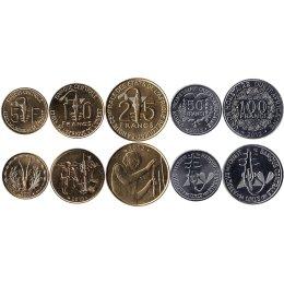 Westafrikanische Staaten 5,10, 25, 50, 100 Francs