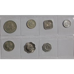 Sri Lanka 1, 2, 5, 10, 25, 50, Cents, 1 Rupee