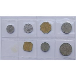 Sri Lanka 1, 2, 5, 10, 25, 50, Cents, 1 Rupee