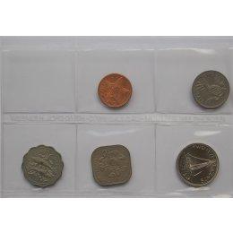 Bahamas 1, 5, 10, 15, 25 Cents