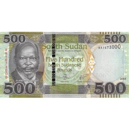 Südsudan 500 Pounds 2018