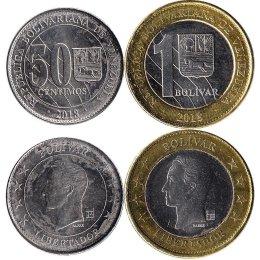Venezuela 50 Centimos, 1 Bolivar 2018