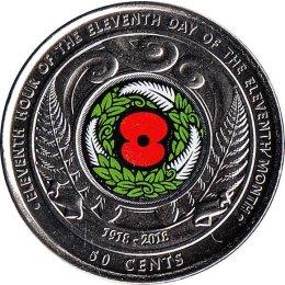 """Neuseeland 50 Cents 2018 """"Centenary of Armistice Day"""""""