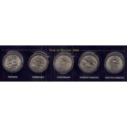 """USA 5 x Quarter 2006 """"P"""""""