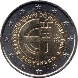 """Slowakei 2 Euro 2014 """"10. Jahrestag des EU-Beitritts"""""""