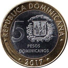 Dominikanische Republik 5 Pesos 2017