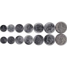 Brasilien 1, 2, 5, 10, 20, 50 Centavos 1 Cruzeiro 1967-1978