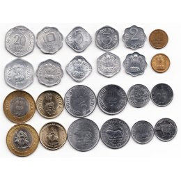 Indien 1, 2, 3, 5, 10, 20, 25, 50 Paise, 1, 2, 5, 10  Rupees 1963-2012