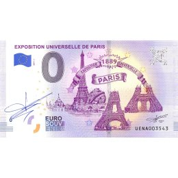 Frankreich 0-Euro Schein 2019-1 EXPOSITION UNIVERSELLE DE PARIS SIGNATUR
