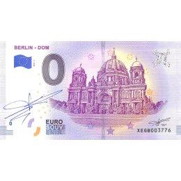 Deutschland 0-Euro Schein 2019-1 BERLIN DOM SIGNATUR