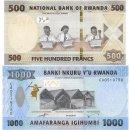 Ruanda 500, 1000 Francs 2019