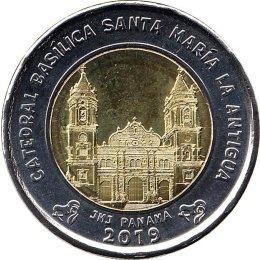 """Panama 1 Balboa 2019 """"Catedral Basílica Santa María la Antigua"""""""