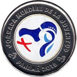 """Panama 1 Balboa 2019 """"World Youth Day Logo"""" Farbe"""