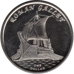 "Gilbert Islands 1 Dollar 2019 ""ROMAN GALLEY"""