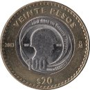 "Mexiko 20 Pesos 2013 ""100 years of the Mexican..."
