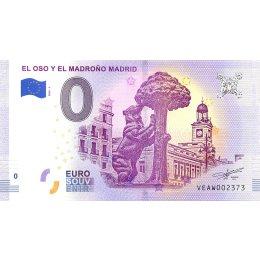 """Spanien 0-Euro Schein 2018-1 """"EL OSO Y EL MADROÑO MADRID"""""""